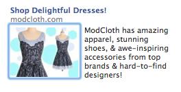 Modcloth Facebook ad