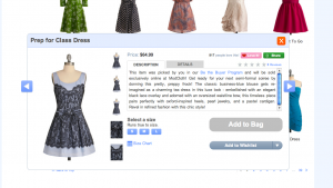 Modcloth dress overlay