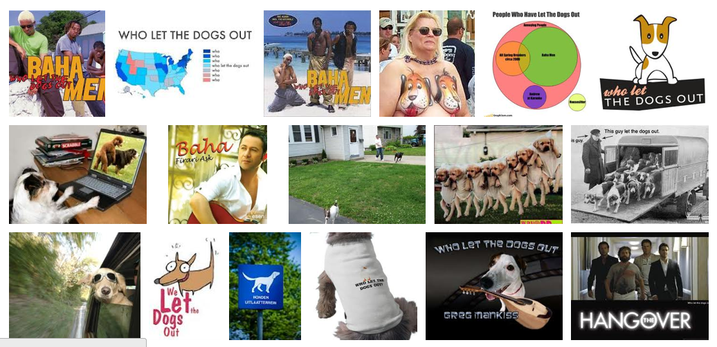 Responses to Letting the Dogs Out: Image Search